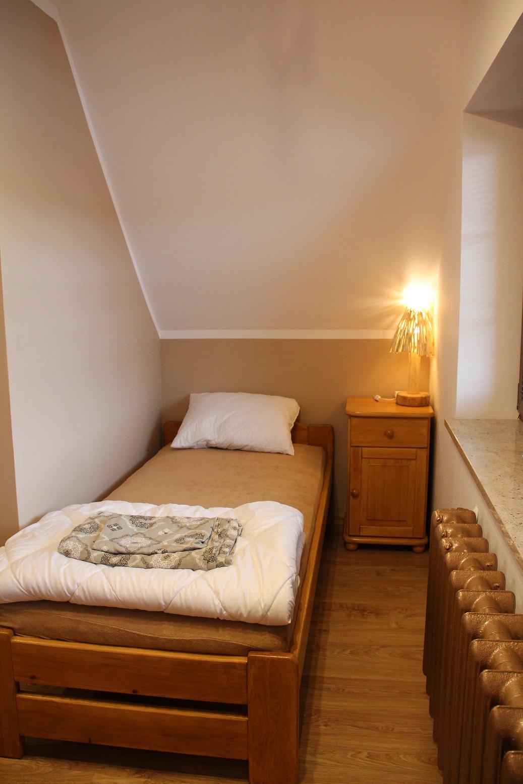 Sypialnia z zachodzacym sloncem...